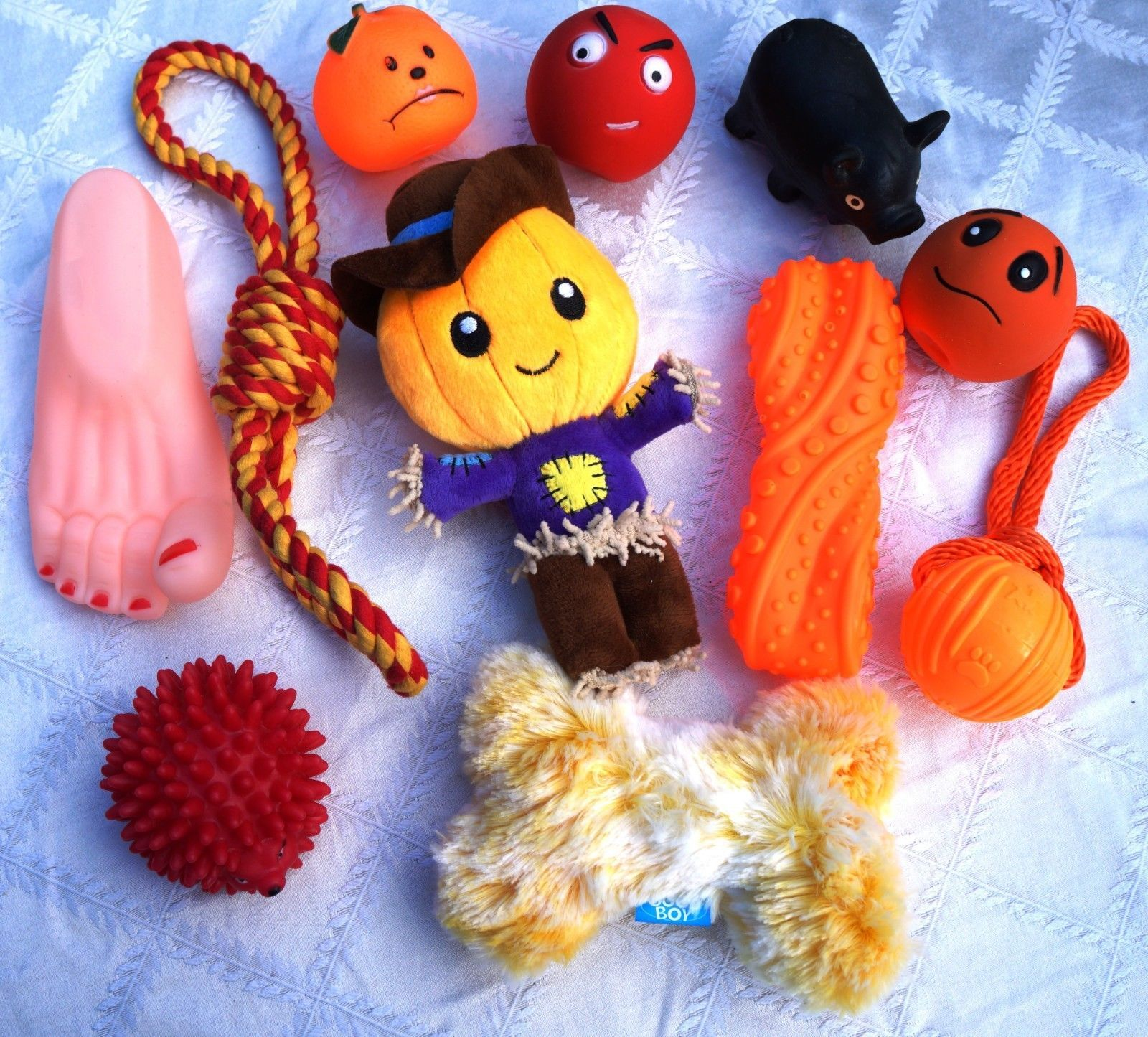 HALLOWEEN DOG TOY SET CREEPY SCARY DOG TOY SELECTION FOR SML MED DOGS & PUPPIES